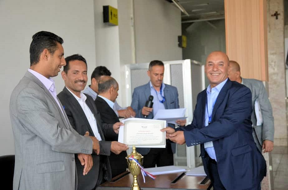 مطار صنعاء الدولي يكرم الفرق الرياضية المشاركة ببطولة الهيئة